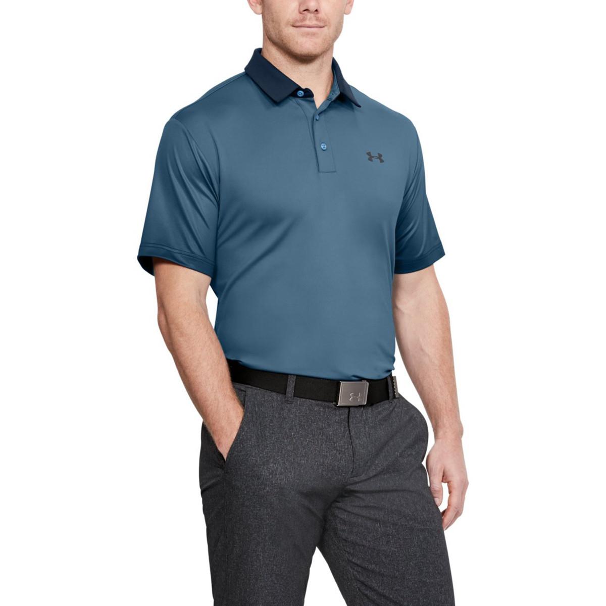 9e62cb6fe ... Under Armour Mens UA Playoff Performance Short Sleeve Golf Polo Shirt.  < Back. prev. next. thumbnail. thumbnail. thumbnail. thumbnail.  1253479/Clear