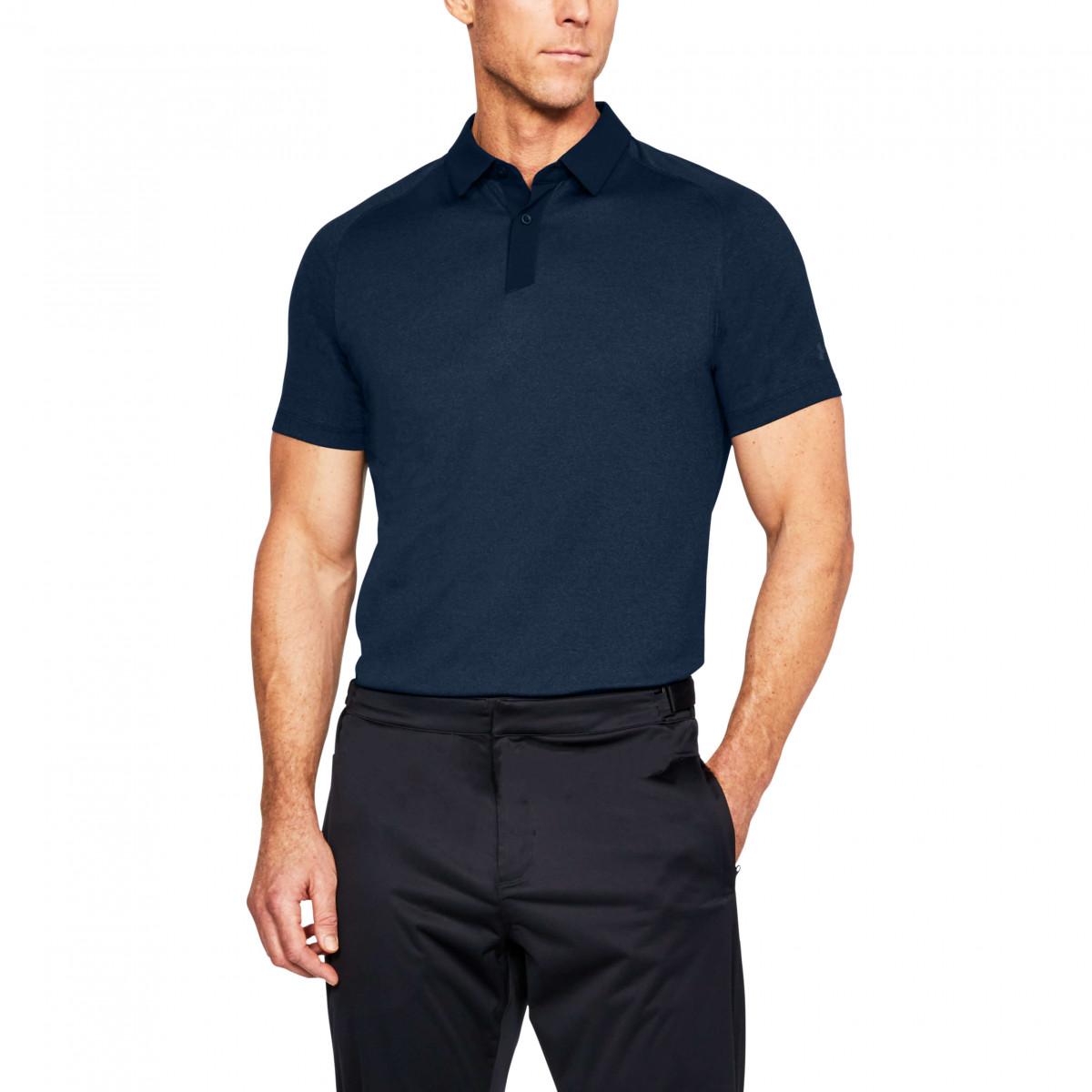 c6155a1d Under Armour Mens Threadborne Tour Polo Shirt - Golf Polo Shirts ...