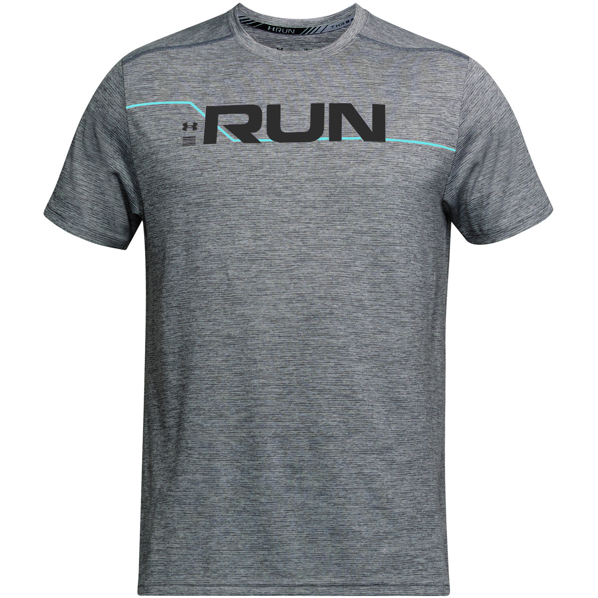 1962e394 Under Armour Mens Run Front Graphic T-Shirt