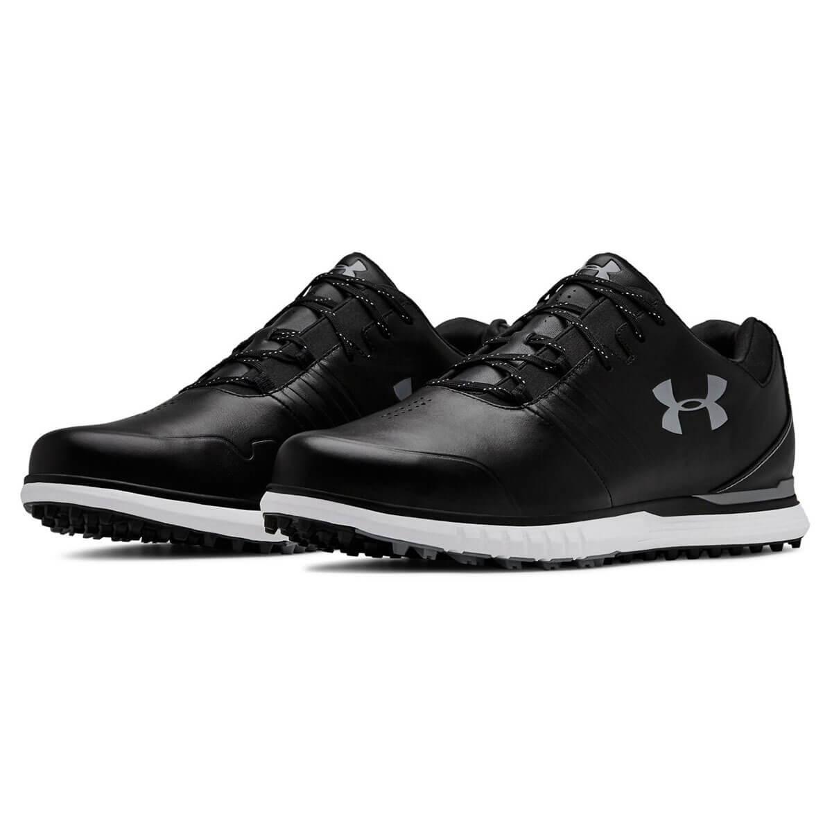 19b051a5 Under Armour Mens 2019 UA Showdown SL E Spikeless Leather Golf Shoes