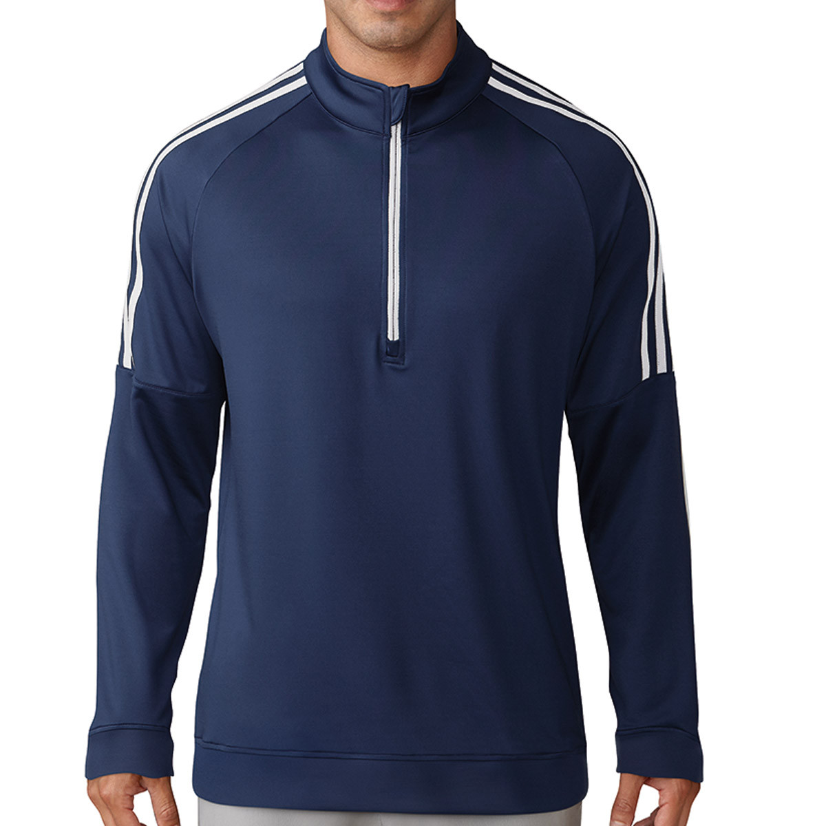 online store 550bf 96423 adidas Golf Mens 3-Stripes 1 4 Zip Pullover