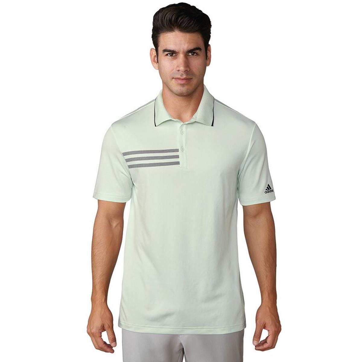1fd1fcc88e1f adidas Golf Mens 3-Stripes Mesh Collar Polo Shirt