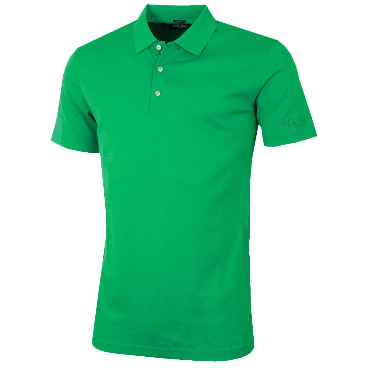 33ac11531 Bobby Jones Mens Solid Supreme Cotton TF Golf Polo Shirt - Tree Present