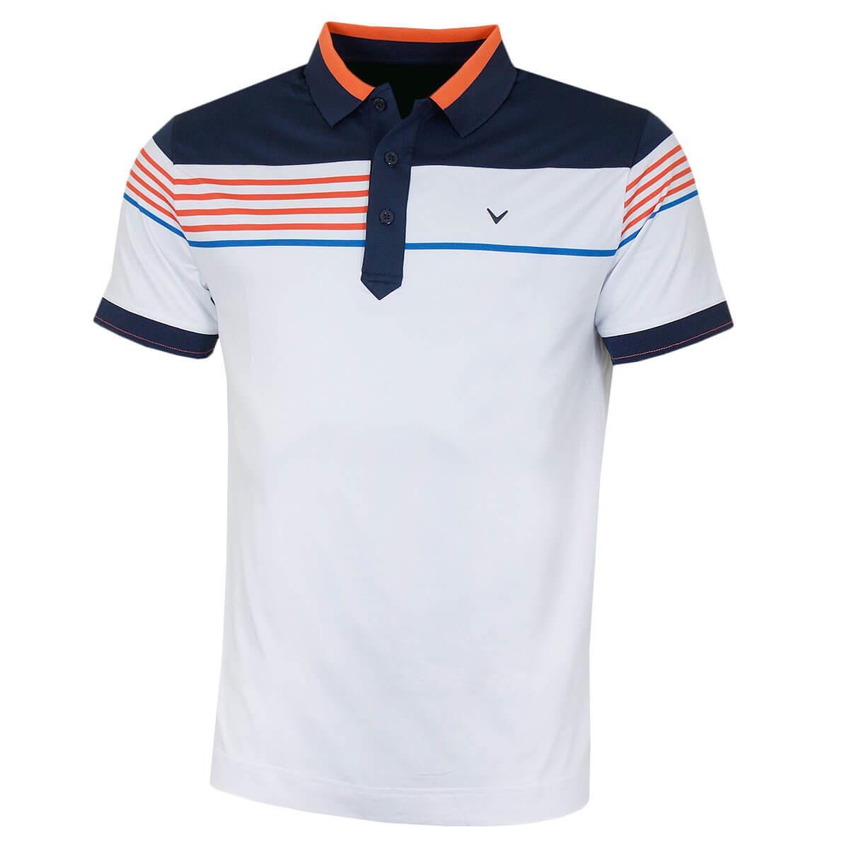 66824bc9 Callaway Mens 2019 Chest Stripe Block Golf Polo Shirt