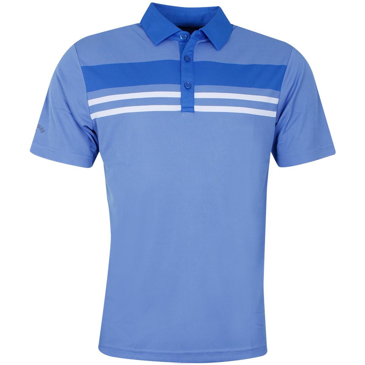 b019dc25e6d8 Callaway Mens 2019 Yarn Dye Chest Stripe Golf Polo Shirt