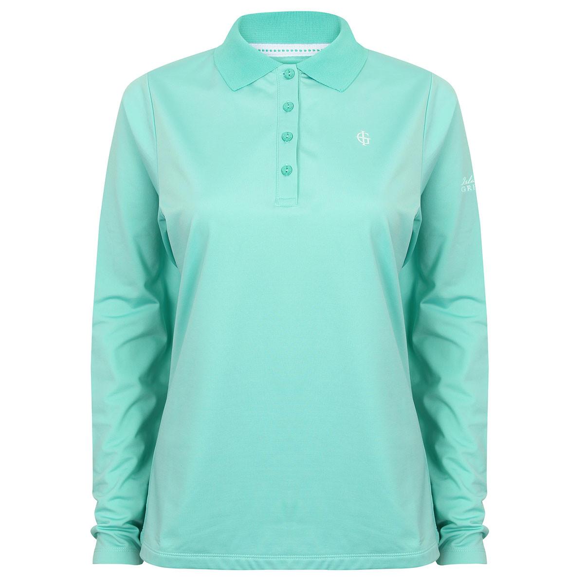 Island Green Ladies Long Sleeve Golf Polo Shirt Golf Polo Shirts
