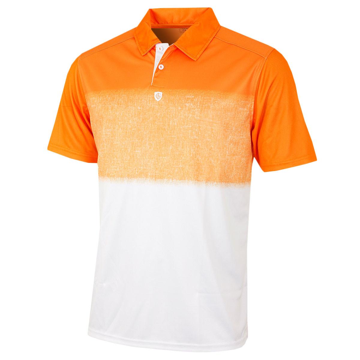 Island Green Mens Fade Effect Coolpass Golf Polo Shirt