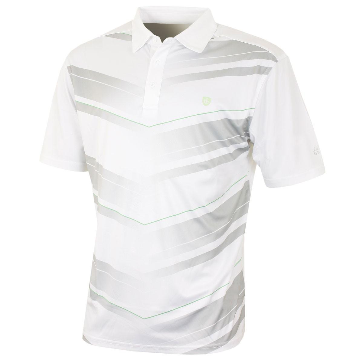 fbd7e5f8 Island Green Mens Chevron Print Coolpass Golf Polo Shirt