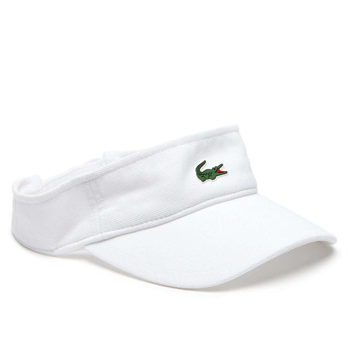 a6f98db8fef67 Lacoste Mens RK3553 Adjustable Pique Cotton Visor Golf Cap