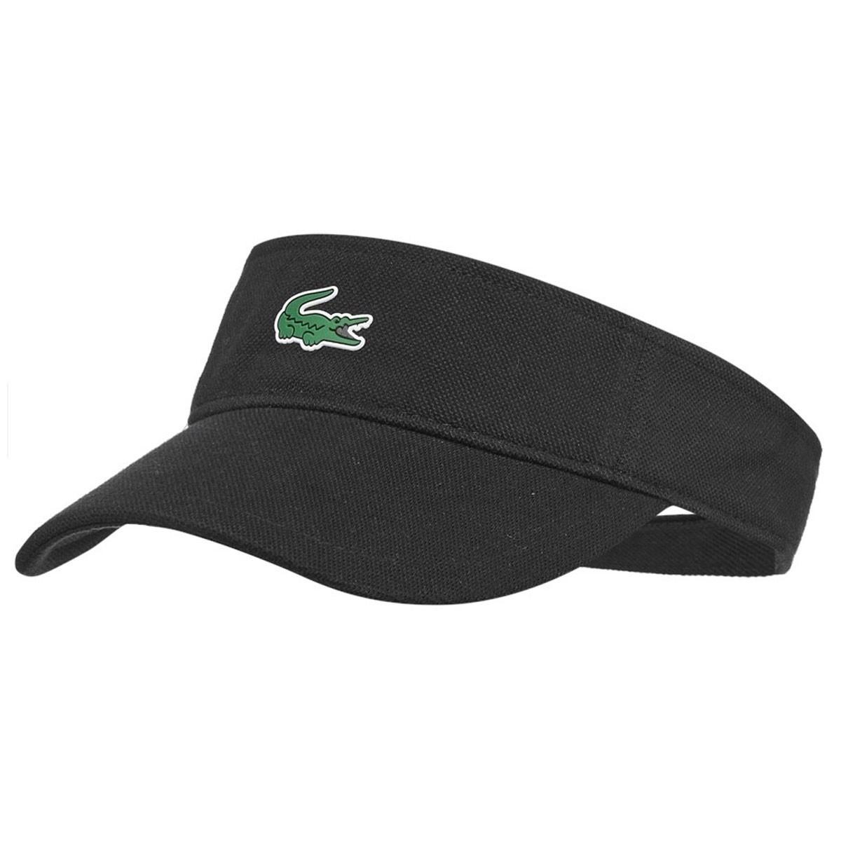 519ffabc1ee Lacoste Mens RK3553 Adjustable Pique Cotton Visor Golf Cap