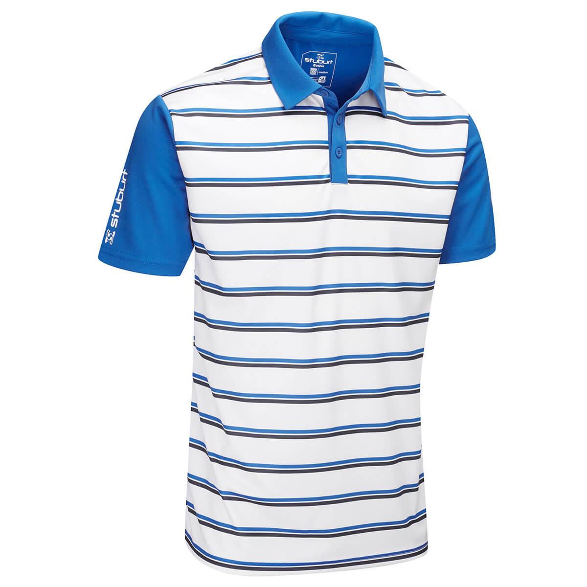 338661da2 Stuburt Mens 2019 Evolve Apley Moisture Wicking Lighweight Golf Polo Shirt