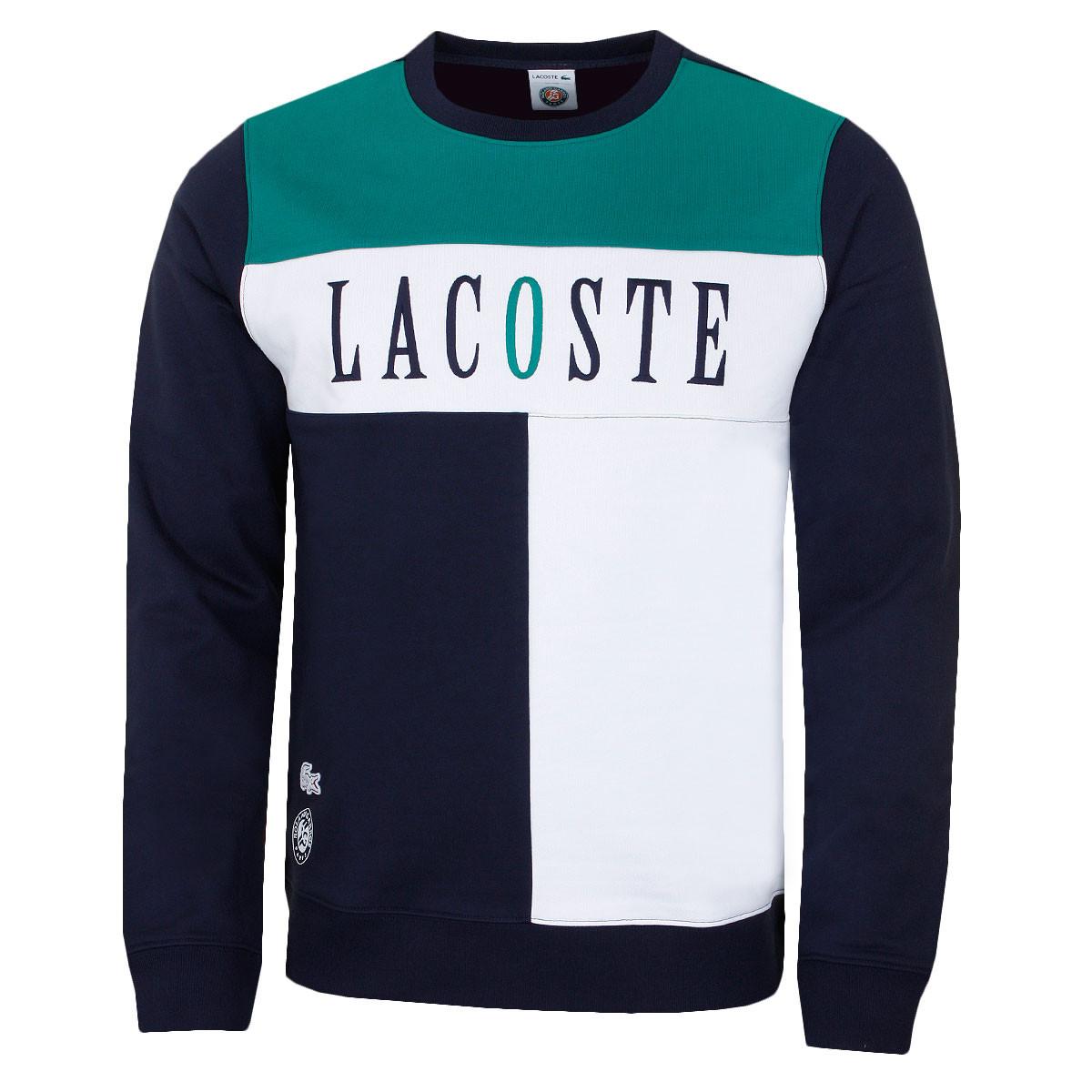 b36bab6f Lacoste Mens 2019 Seasonal Roland Garros Sweater