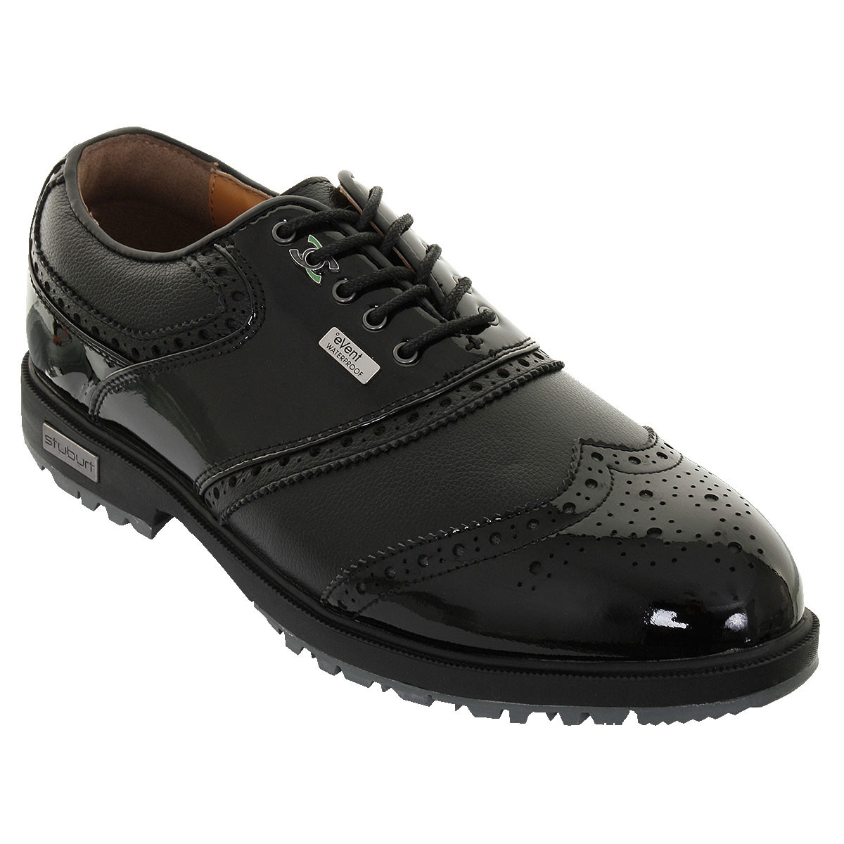 premium selection 53465 3e4d7 Stuburt 2018 Mens Waterproof Classic Tour Event Spikeless Leather Golf Shoes