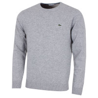 3e422f61754b6 Lacoste Mens AH0841 Crew Neck Wool Jersey Sweater