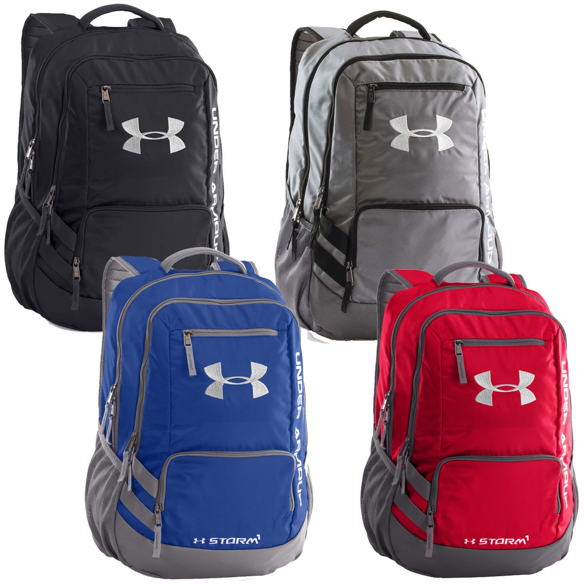under armour 2017 ua hustle backpack ii rucksack. Black Bedroom Furniture Sets. Home Design Ideas