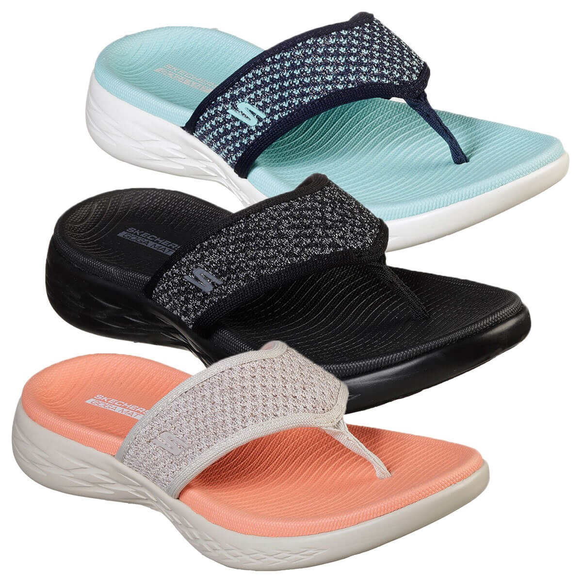 600 Glossy Memory Foam Comfort Sandals