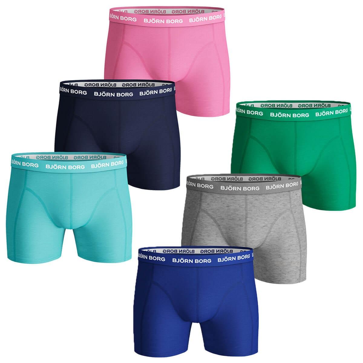 Bj/örn Borg 2019 Mens 3-Pack BB Sammy Shorts Solid Boxer Briefs Underwear