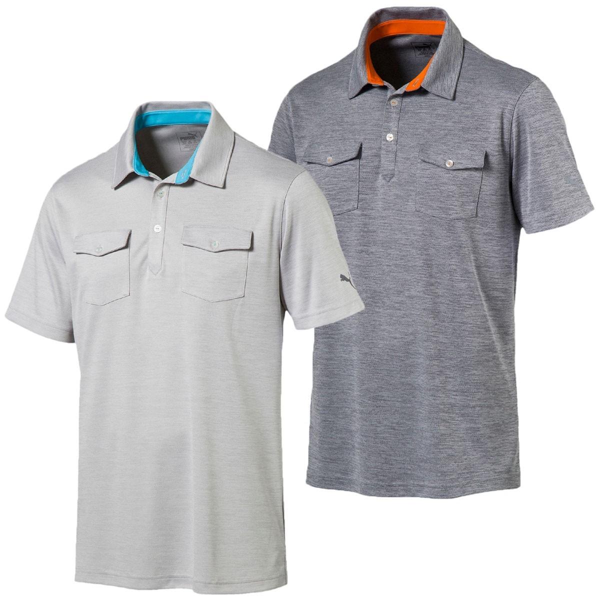 Puma golf 2017 mens tailored double pocket polo shirt for Two pocket polo shirt