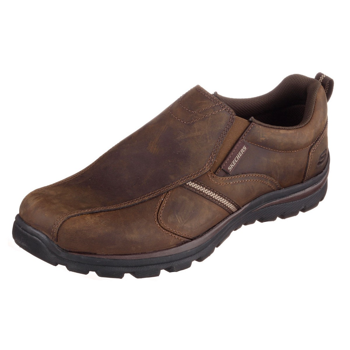 Sketchers Mens Shoes With Leather Upper
