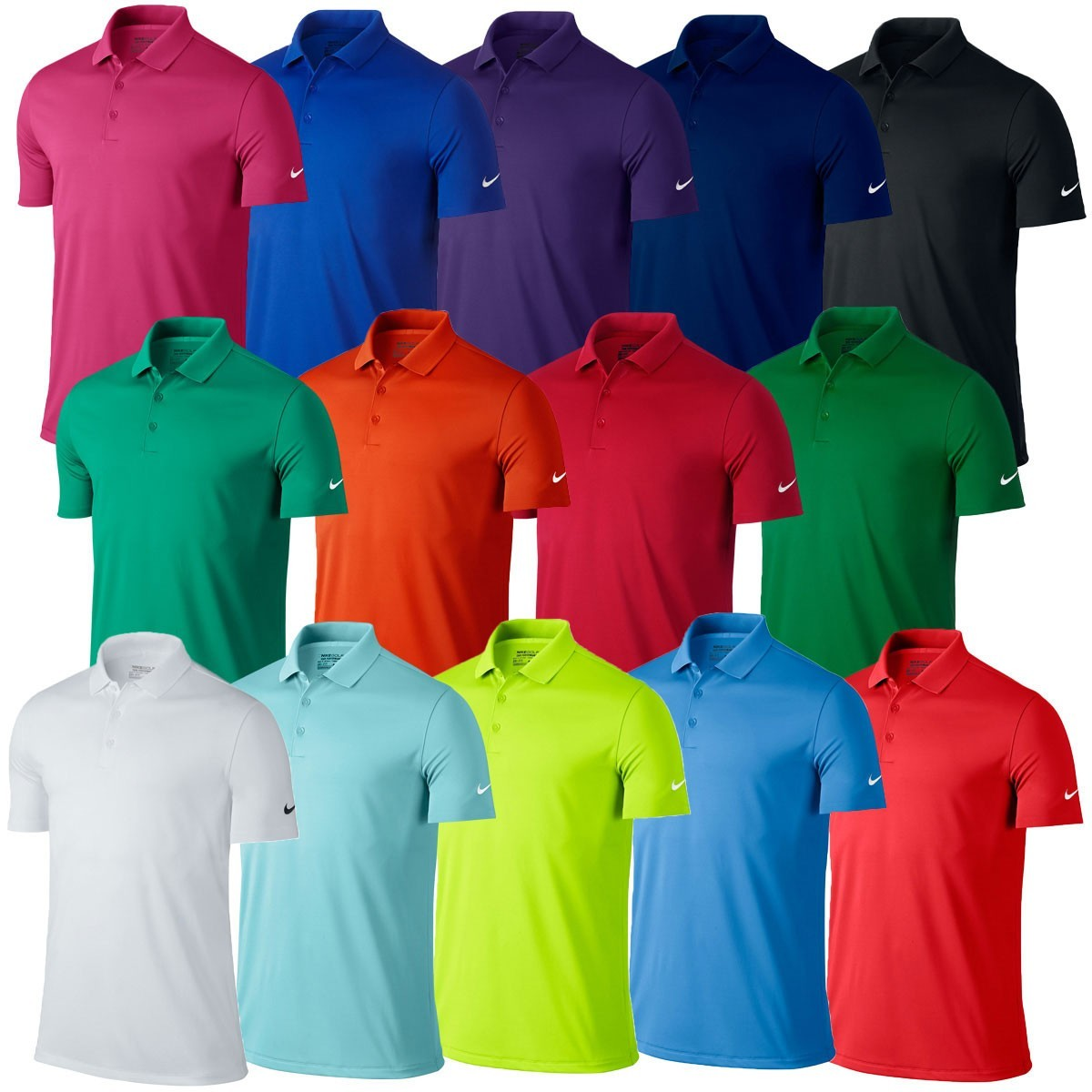 Nike golf mens victory solid dri fit polo shirt golf for Nike dri fit victory golf shirts