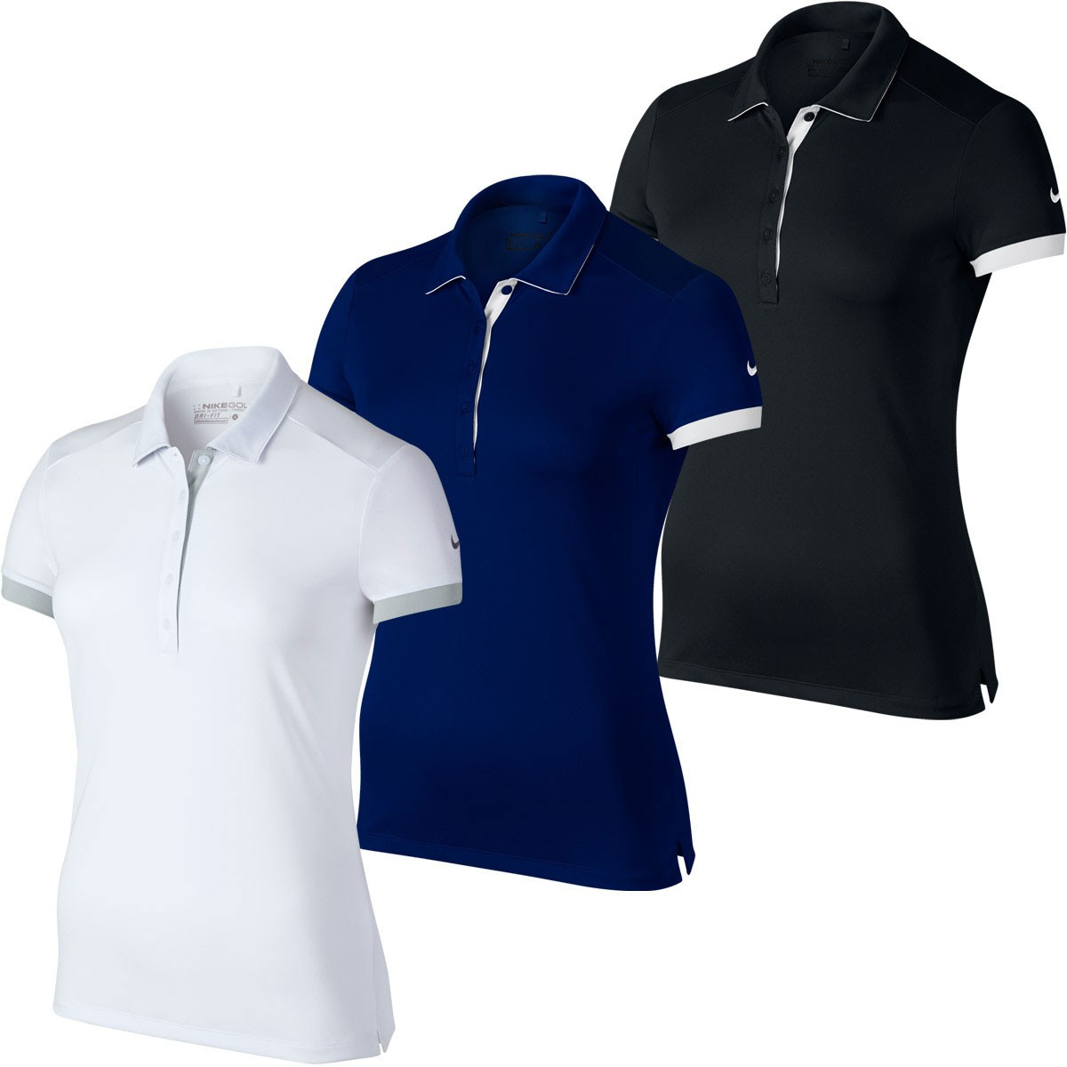 Nike golf 2016 womens victory colorblock dri fit polo for Nike womens golf shirts polo
