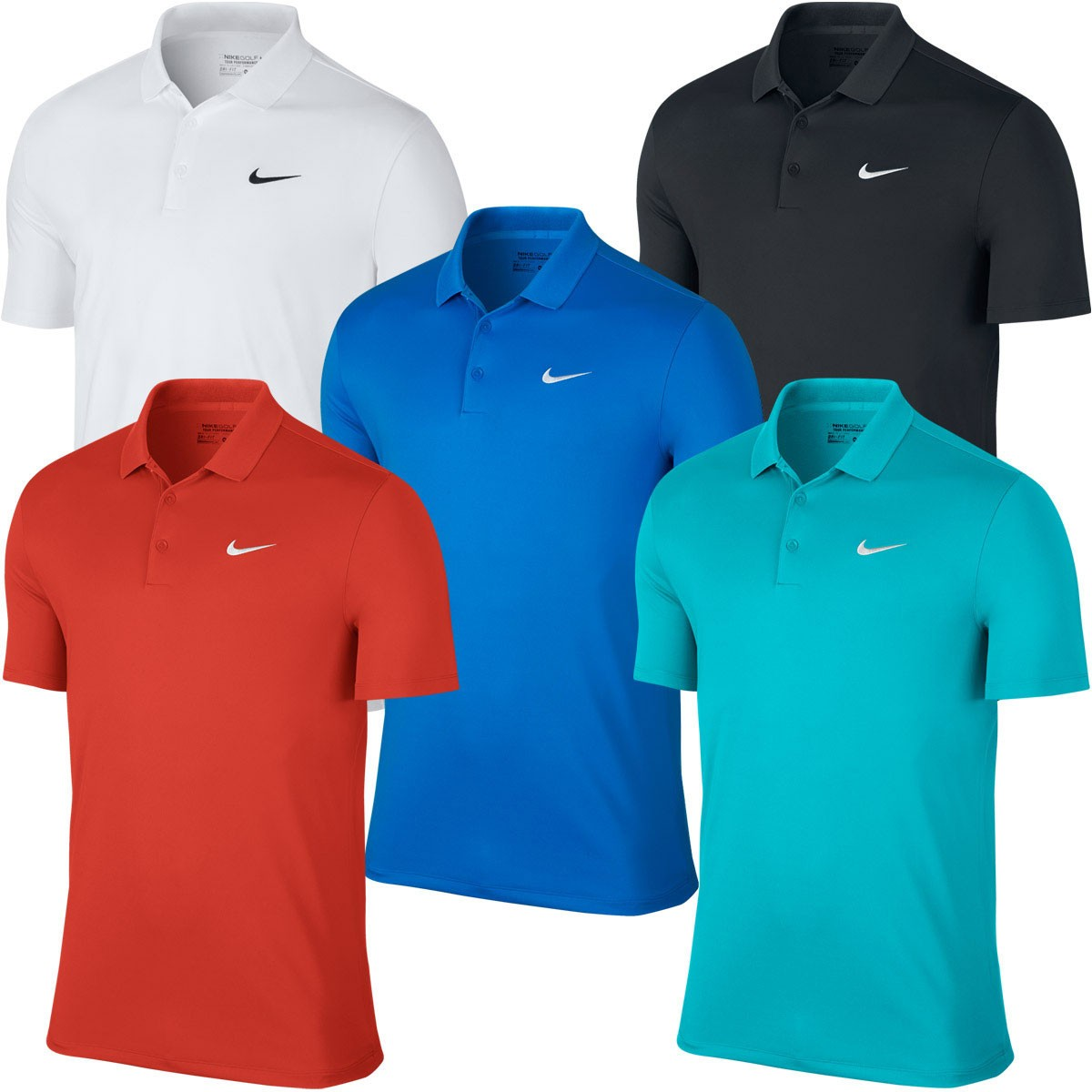 Nike golf 2017 mens modern fit victory solid lc dri fit Modern fit golf shirt