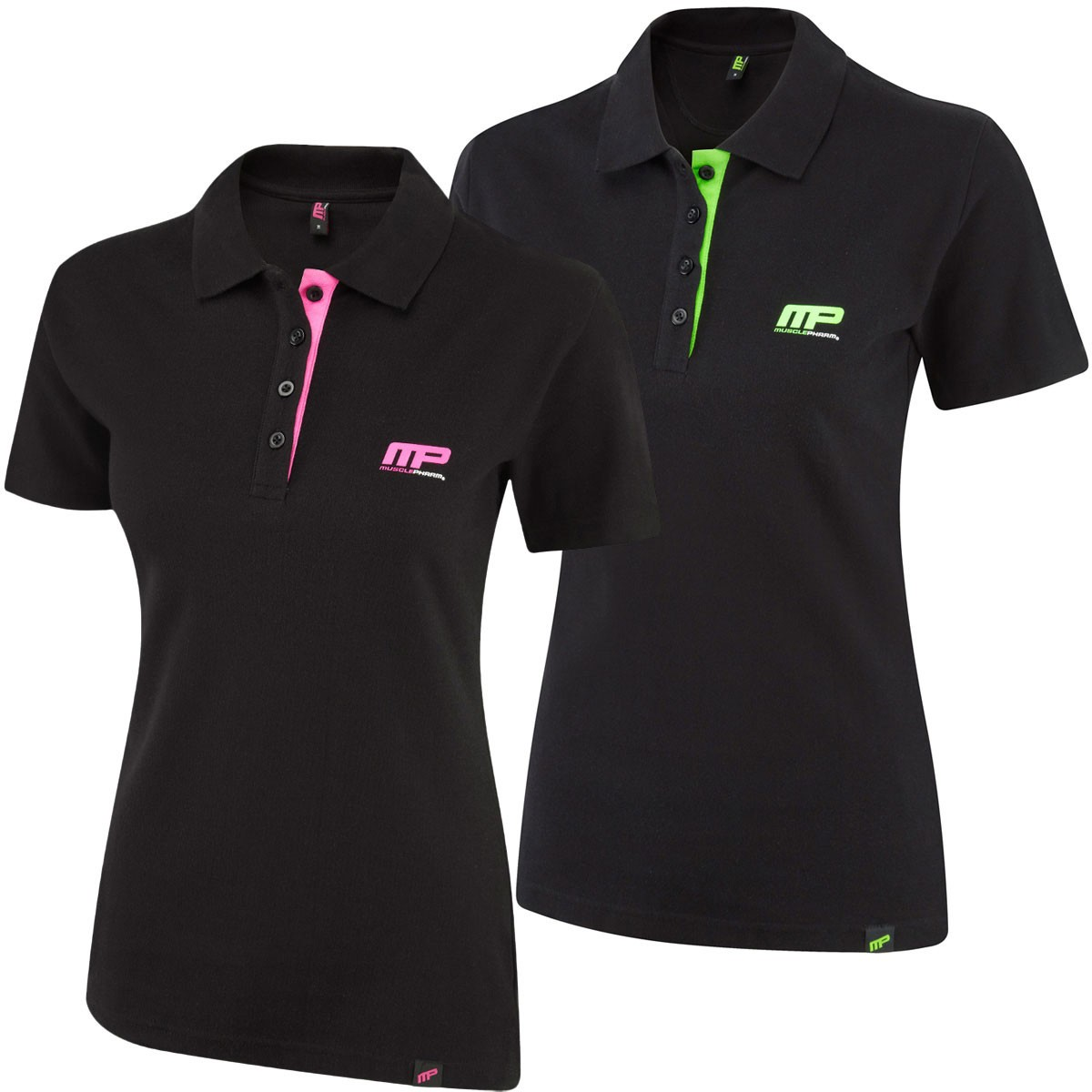 Musclepharm Womens Cotton Pique Polo Shirt Golf Polo