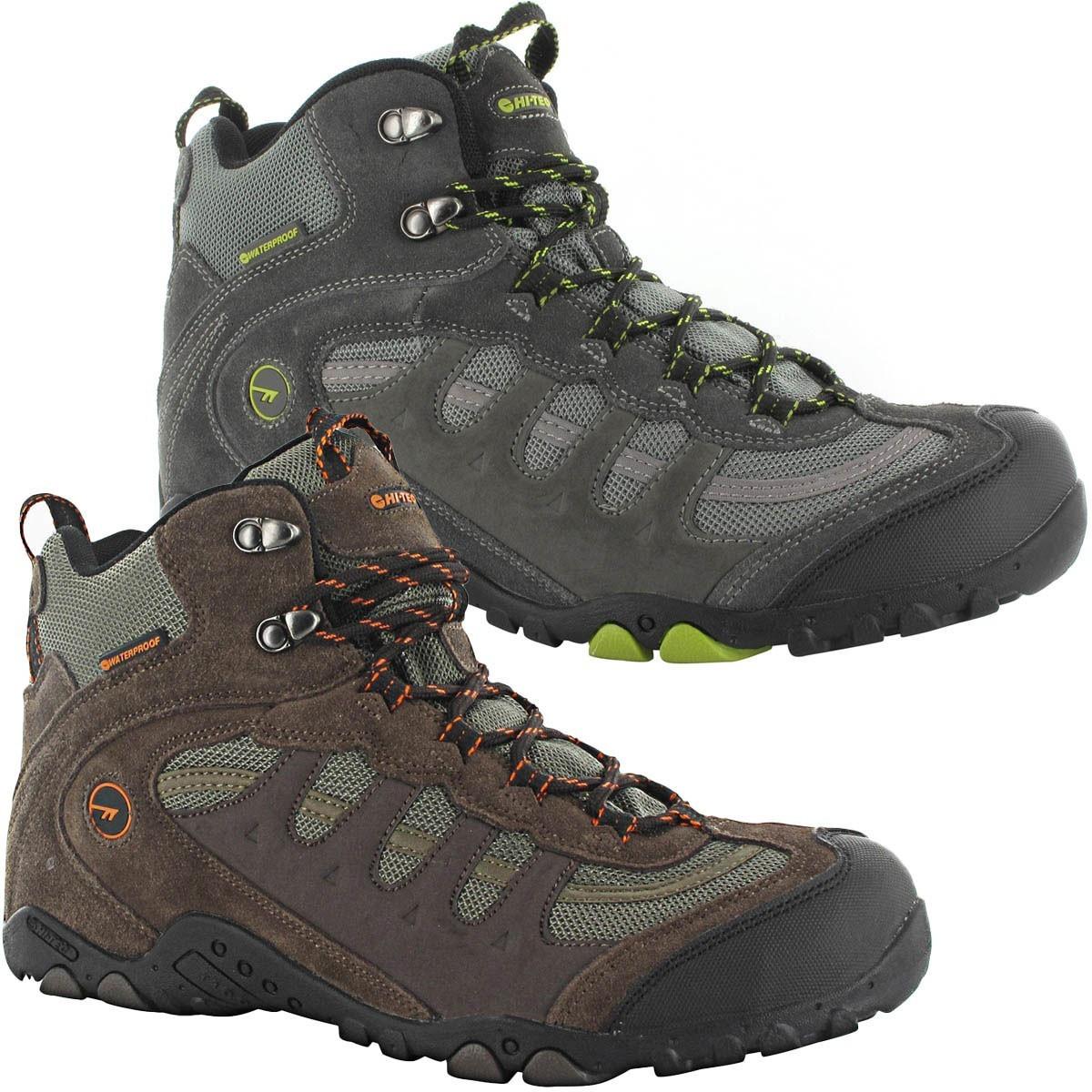 hi tec mens penrith mid wp walking waterproof trail hiking