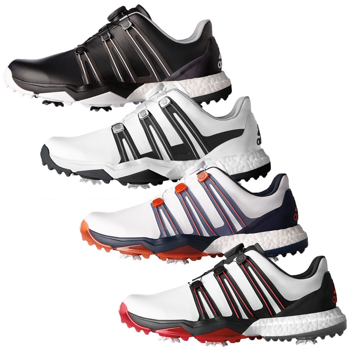 Adidas Golf  Powerband Boa Boost Wd Waterproof Golf Shoes