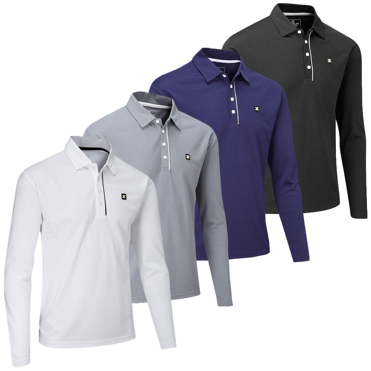 Stuburt 2018 Mens Urban Long Sleeve Golf Polo Shirt