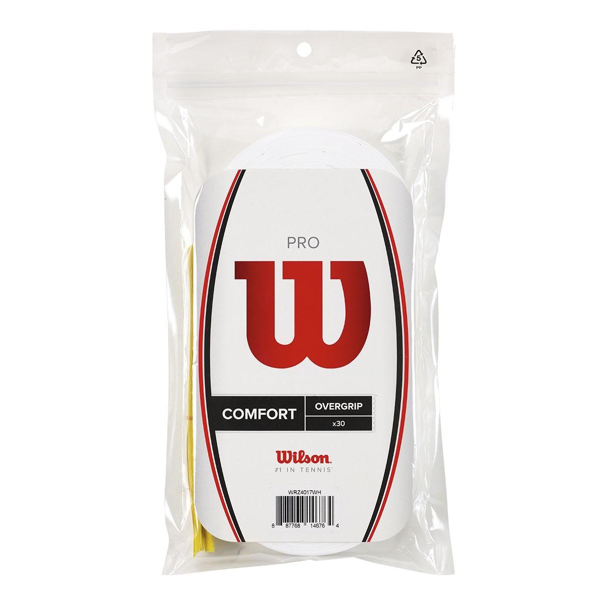 Wilson Pro Overgrip 30 Pack Tennis Grips WRZ4017 - White - 30 Pack