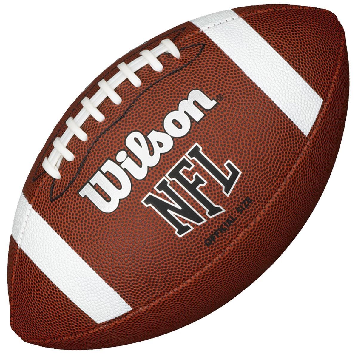 wilson nfl official size bin american football