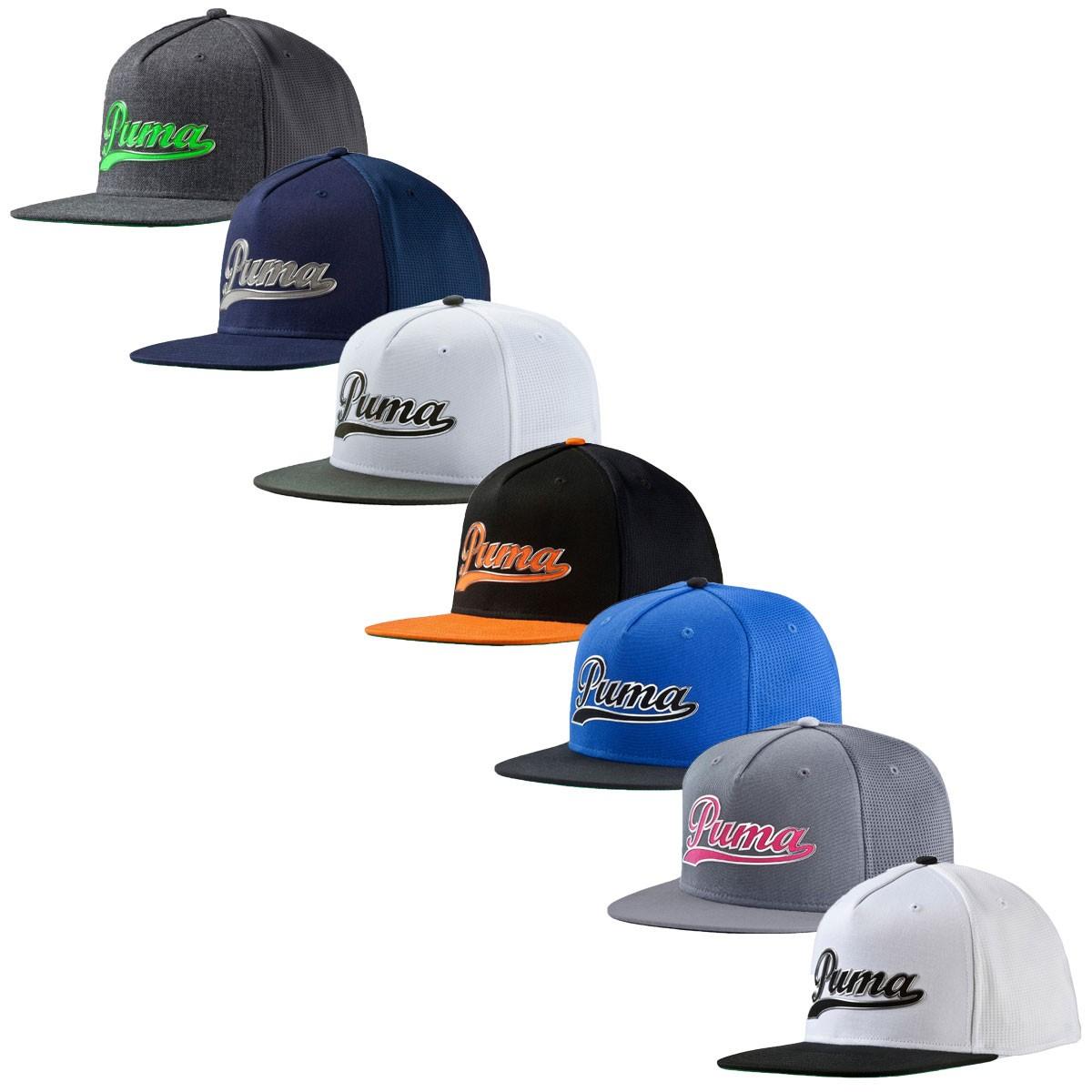 4b7de164b3b97 Puma Golf Mens Script Snapback Cap - Headwear - Clothing - Men