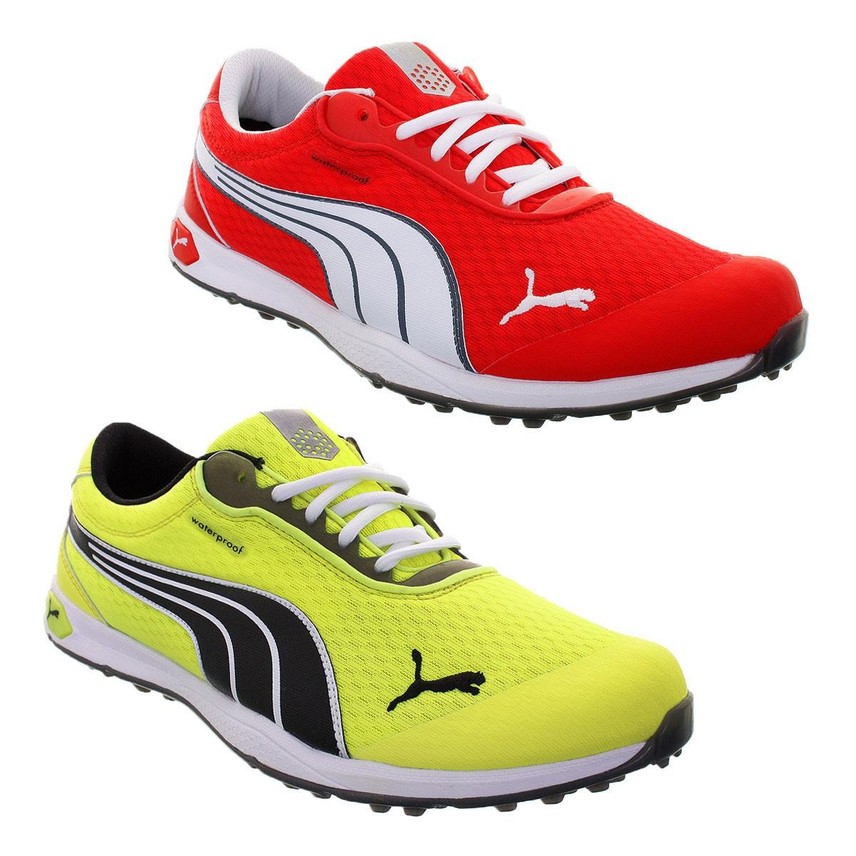 54f03f9298e Puma Golf Mens Waterproof Biofusion SL Mesh Spikeless Golf Shoes ...