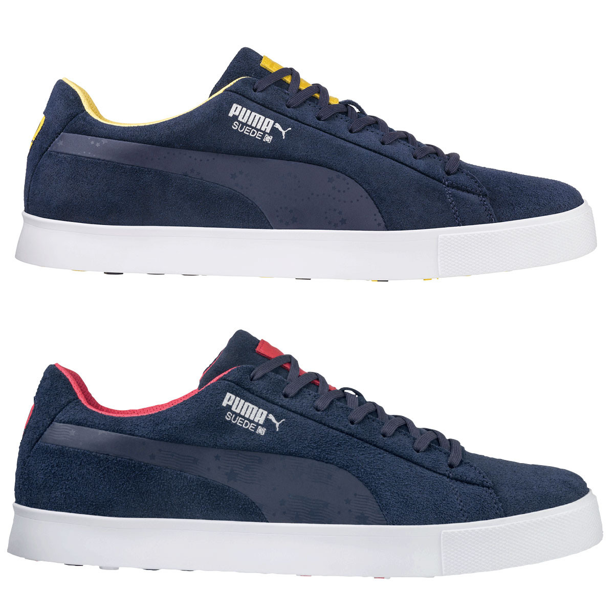 4bace8d27179 Puma Mens Suede G Team Spikeless Waterproof Golf Shoes
