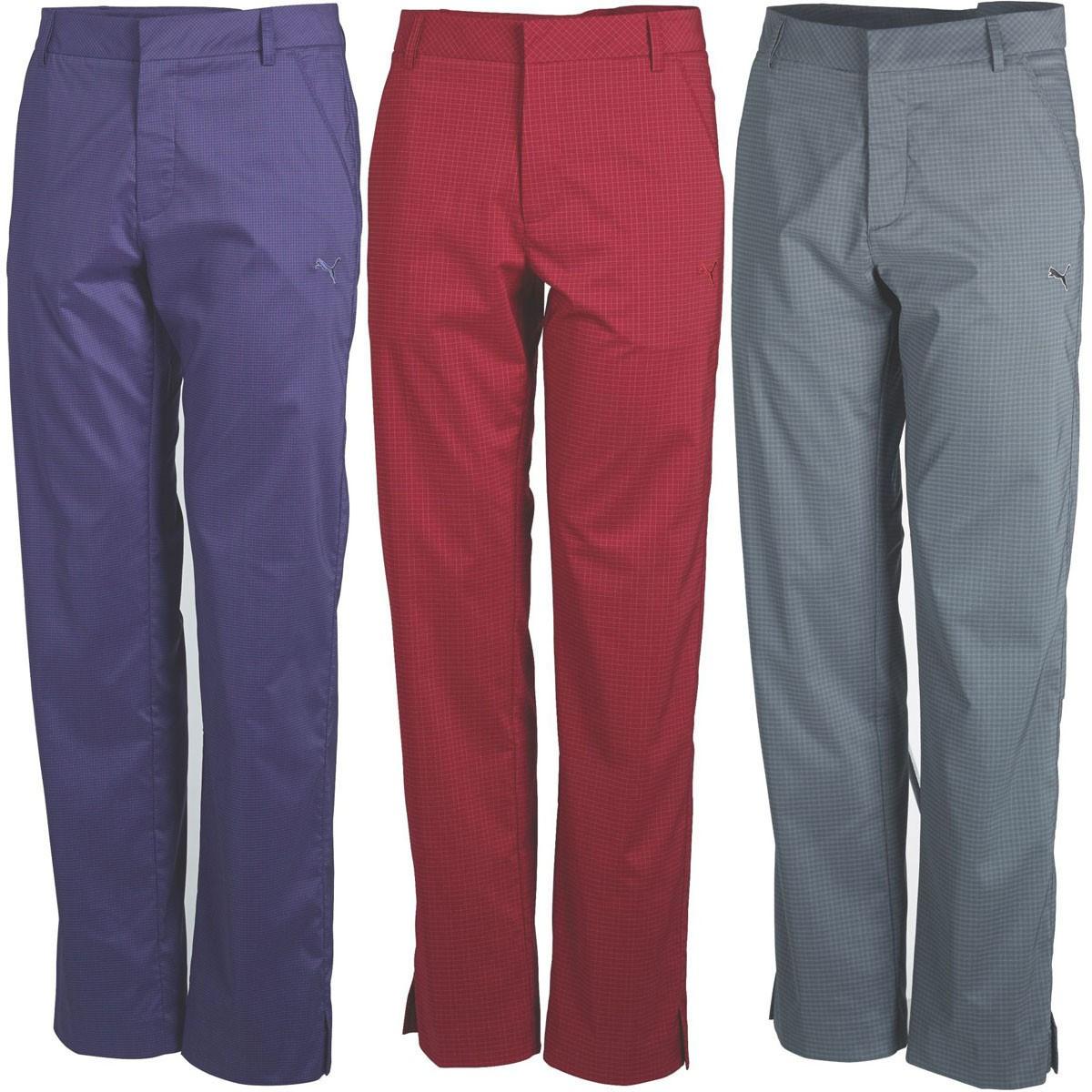 6748fc0160ae Puma Golf Mens Plaid Tech Style Pant Mini Check Golf Trousers - Puma ...