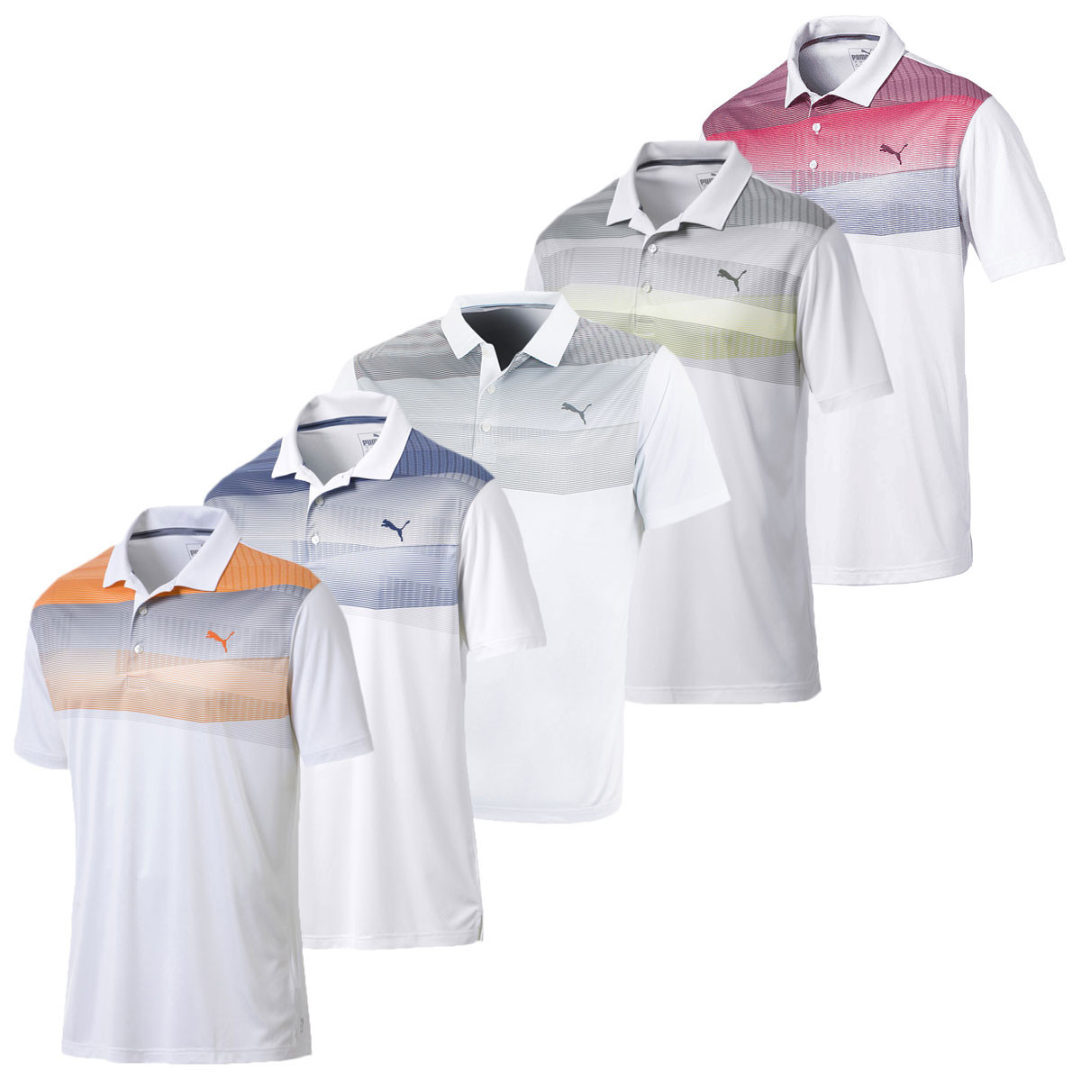 1a17ea1d SHARE THIS ITEM WITH YOUR FRIENDS. Watch video Size Guide. Description;  Technology; Reviews0. Description. The Puma Golf Mens Pwrcool Refraction  Polo ...