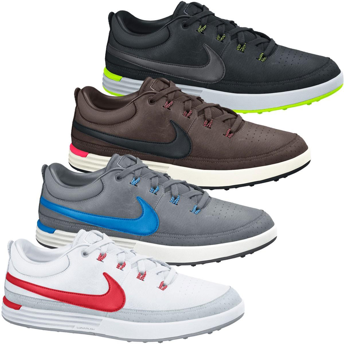 big sale 35521 982c9 Nike Golf Mens Lunar Waverly Spikeless Waterproof Golf Shoes