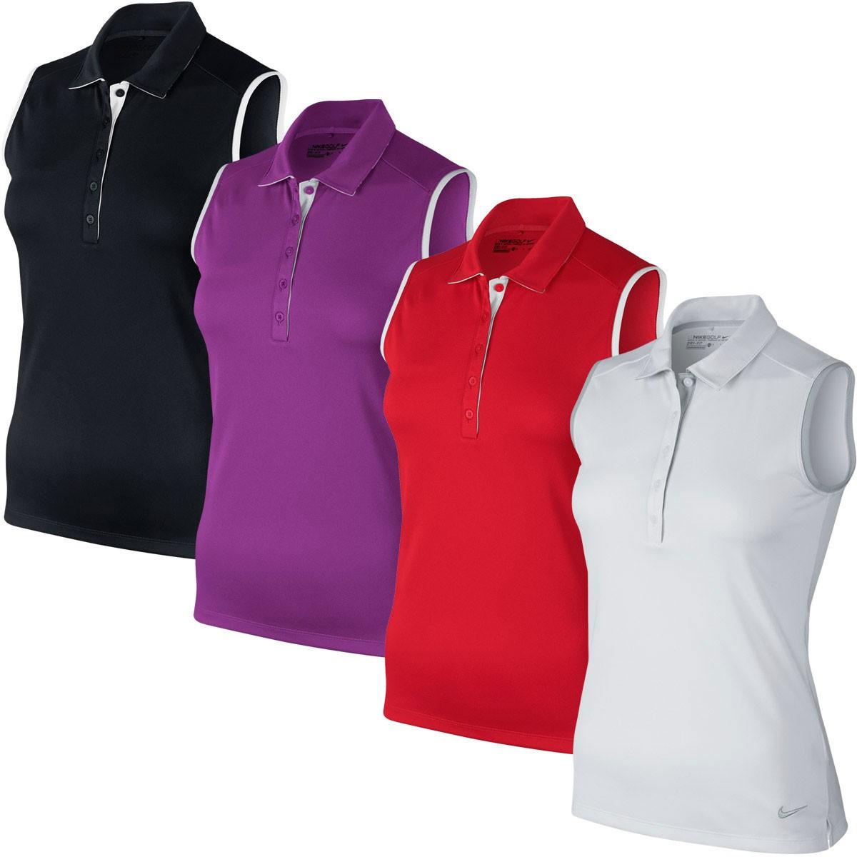 Nike Womens Tour Sleeveless   Polo Shirt