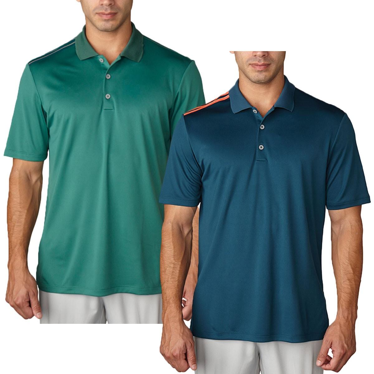 Adidas golf mens climacool 3 stripes stretch polo shirt for Stretch polo shirt mens