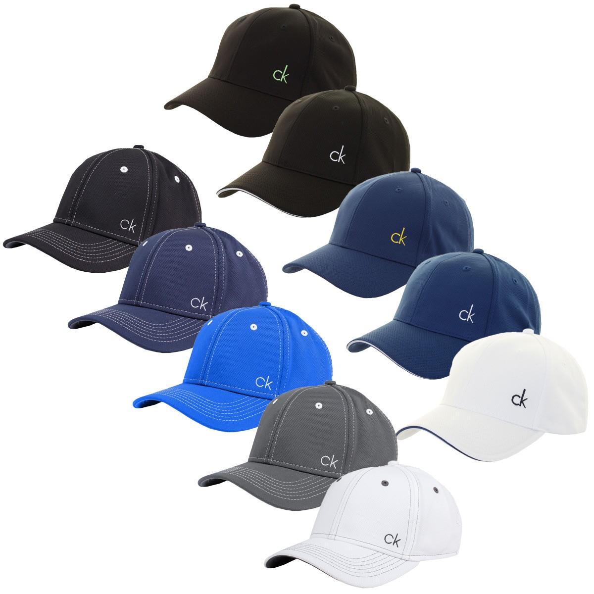 Calvin Klein Mens Performance Mesh Baseball Golf Cap - Golf Headwear ... 92c9f0a5d595