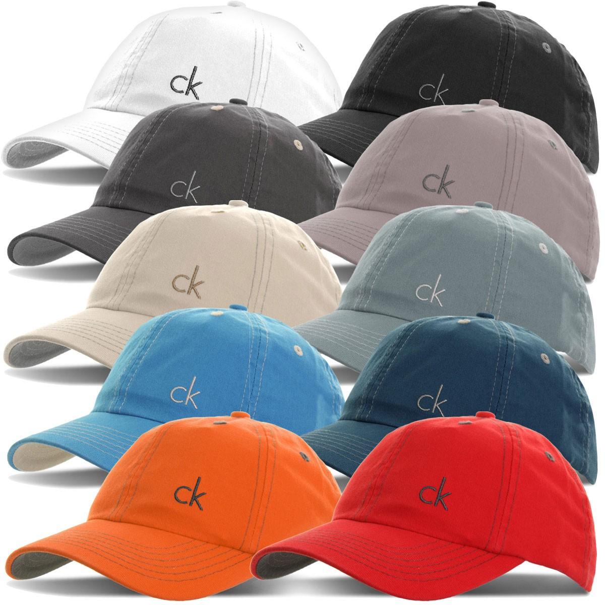 73473f2c6cb Calvin Klein Mens CK Vintage Twill Baseball Golf Cap - One Size ...