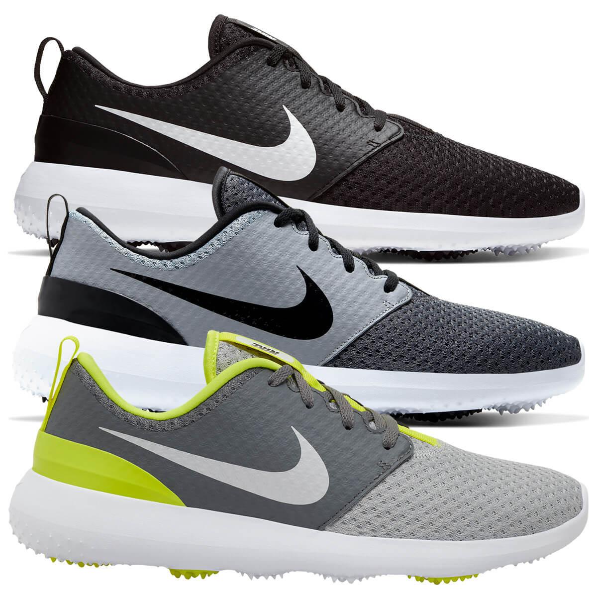 Nike Mens 2020 Nike Roshe G Spikeless Mesh Breathable Cushioned Golf Shoes