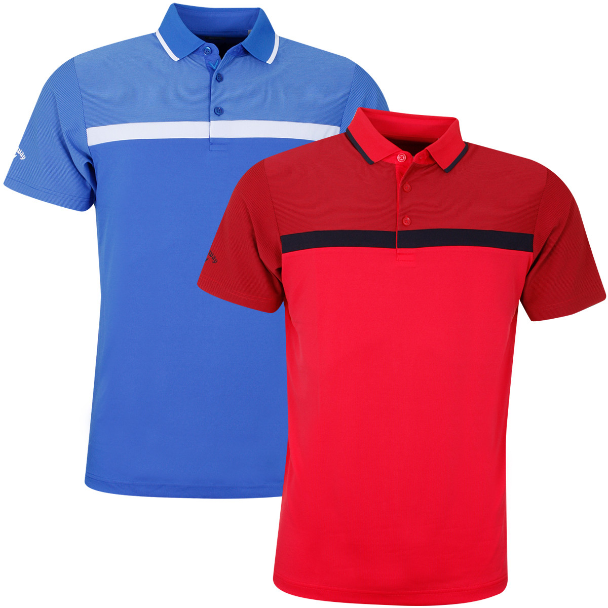 Fan Shop Callaway Mens Short Sleeve Fine Line Color Block Polo Sports & Outdoors