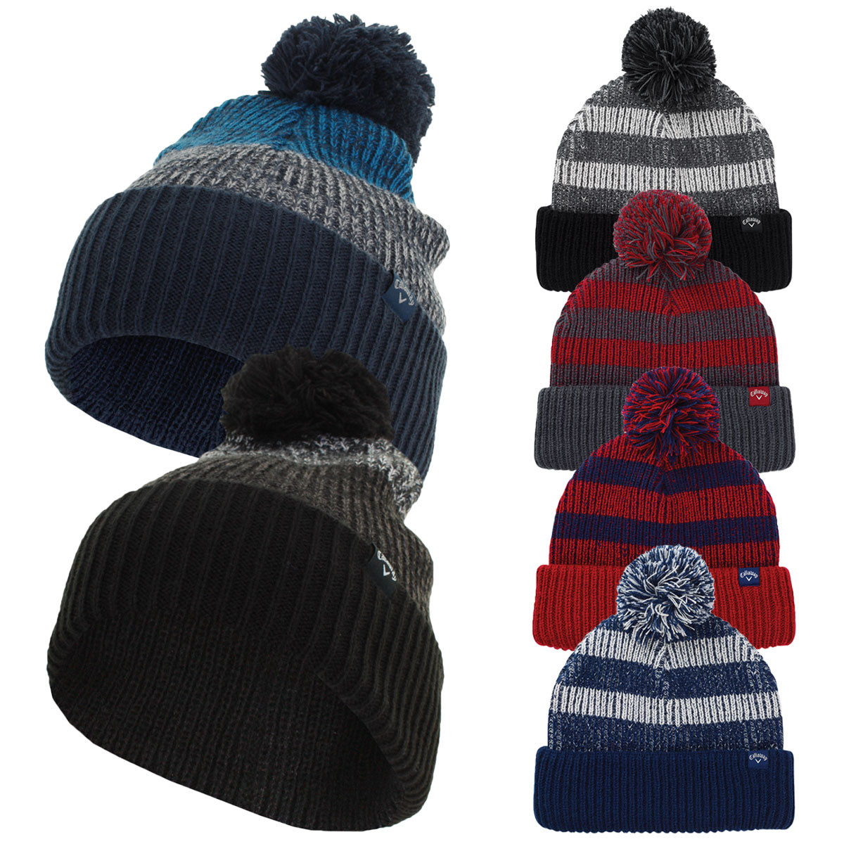 b043e53f926 Callaway Golf 2019 Pom Pom Knitted Extra Warmth Beanie Bobble Hat ...