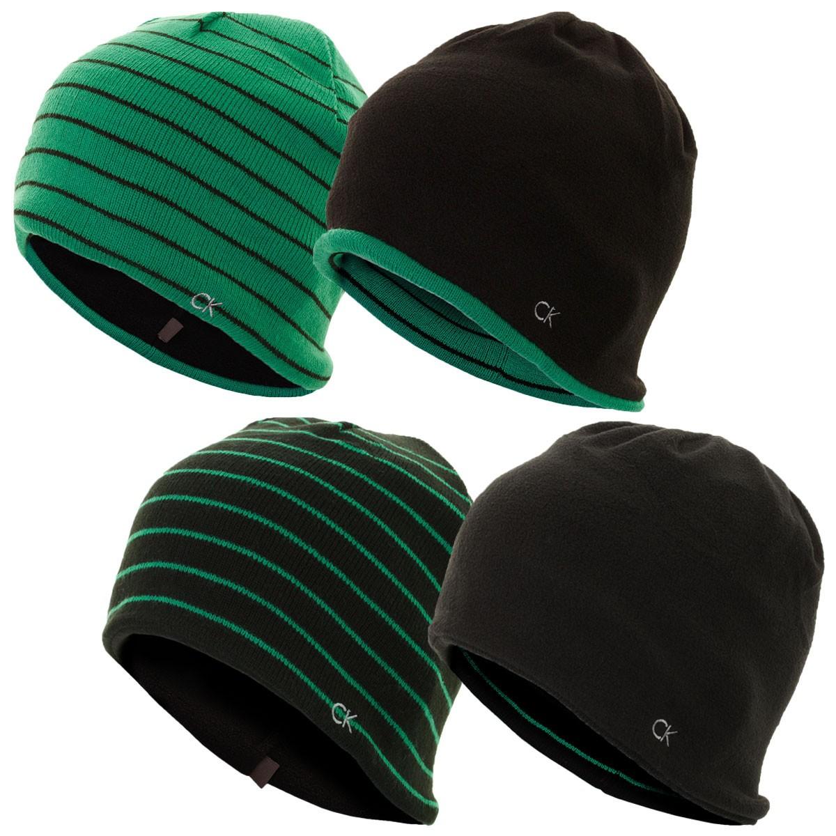 Calvin Klein Golf Mens Reversible Stripe Beanie - Calvin Klein - A-Z ... b5202ee47538
