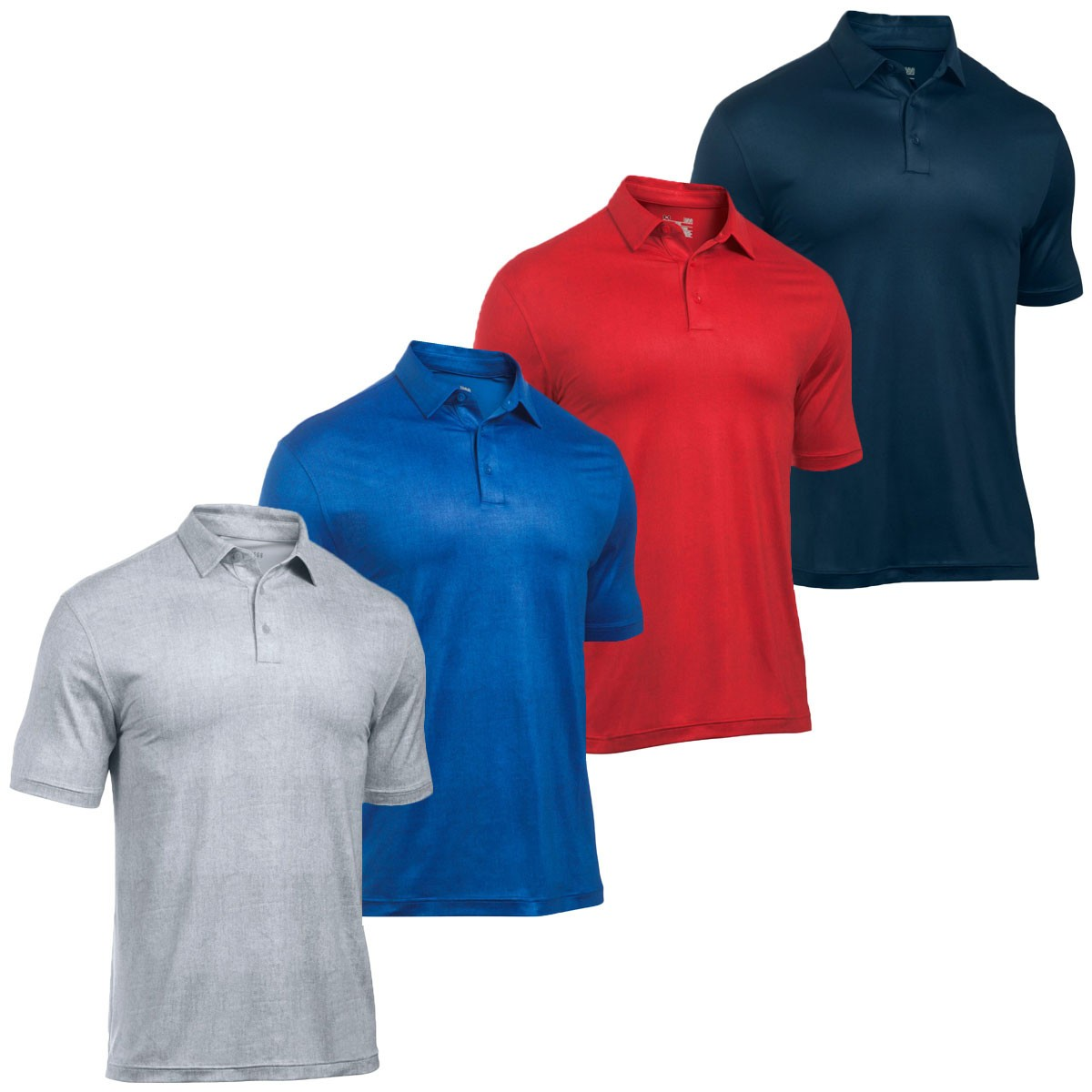 73d96fda61 ... Under Armour Mens Crestable Playoff Tweed Golf Polo Shirt. < Back.  1290221