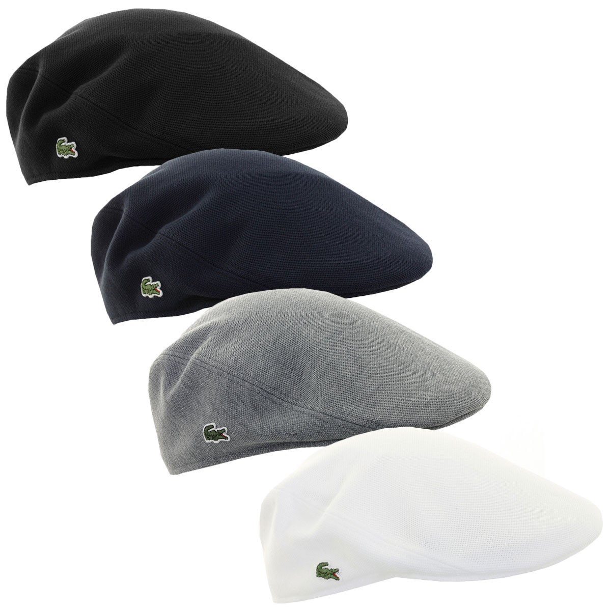 f18f341651d Lacoste Mens RK0345 Cotton Pique Flat Golf Cap