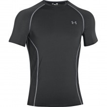 Under Armour Mens HG Sonic ArmourVent SS Base Layer - Black - XL