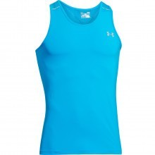 Under Armour Mens UA ArmourVent Run Singlet Vest - Electric Blue - L